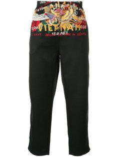 брюки с вышивкой Doublet