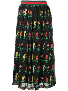 юбка мини с цветочным принтом Muveil