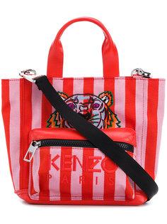маленькая сумка-тоут Tiger в полоску Kenzo