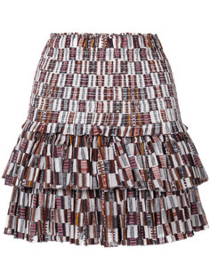 мини-юбка с геометрическим узором Isabel Marant Étoile