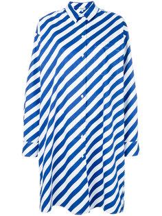 полосатое платье-рубашка Kenzo