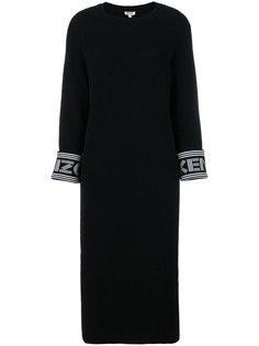 платье-свитер с принтом-логотипом  Kenzo