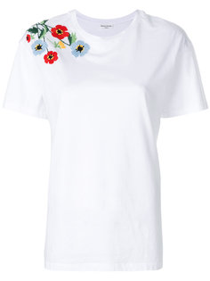 футболка с цветочной вышивкой Sonia Rykiel