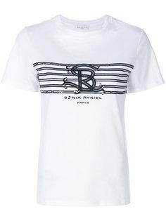 футболка с логотипом и заклепками  Sonia Rykiel