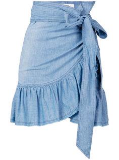 юбка с запахом и рюшами Isabel Marant Étoile