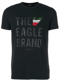 футболка с графическим принтом Emporio Armani