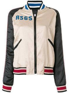 куртка-бомбер колор-блок  As65