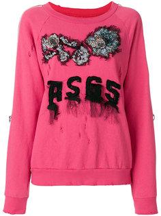 свитер с вышитым логотипом  As65