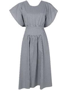 расклешенное платье в клетку  Nº21