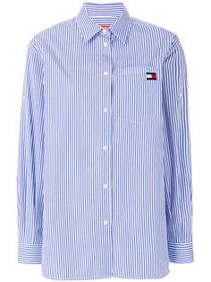 полосатая рубашка с логотипом  Tommy Hilfiger
