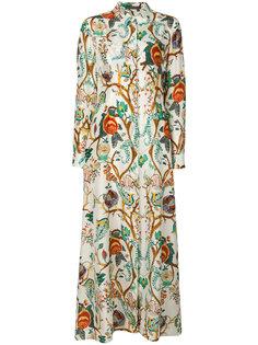 платье-рубашка с принтом Alberta Ferretti