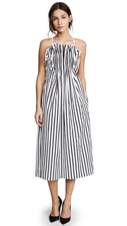Adam Lippes Striped Cami Midi Dress