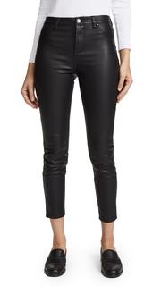 Blank Denim The Principle Mid Rise Vegan Leather Skinny Pants