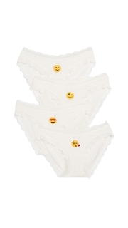 Cheek Frills Emoji 4 Pack Panties