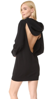 Cotton Citizen The Milan Backless Hoodie Mini Dress