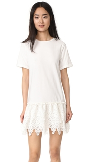 ENGLISH FACTORY Detailed Short Sleeve Dress