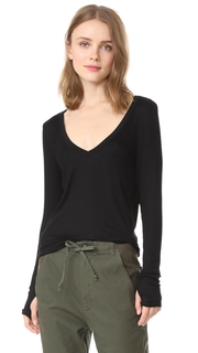 Feel The Piece Kailey V Neck Ribbed Top