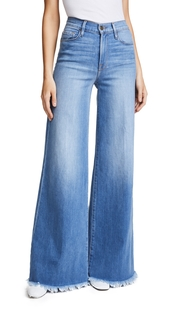 FRAME Le Palazzo Pants with Raw Edge