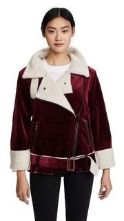J.O.A. Velvet Moto Jacket