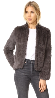 June Knitted Fur Bomber Jacket