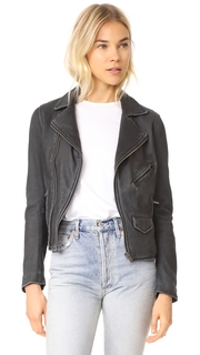 June Stone Wash Leather Jacket