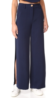 LAVEER Wide Leg Slit Pants