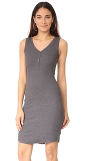 LAGENCE Everly Henley Tank Dress
