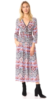 LAGENCE Rosalia V Neck Maxi Dress