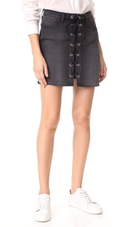 LAGENCE Portia Front Lace Up Skirt