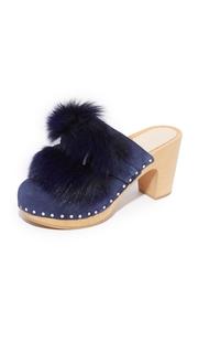 Loeffler Randall Phillips Platform Fur Clog Mules