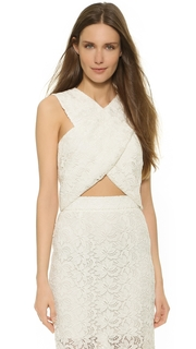 Monique Lhuillier Billie Crisscross Crop Top