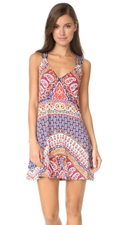 Nanette Lepore Super Fly Paisley Cover Short Dress