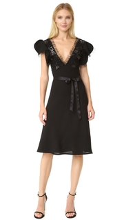 Rodarte Pleather and Wool Dress