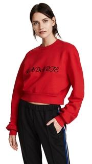 Rodarte Radarte Los Angeles Cropped Sweatshirt