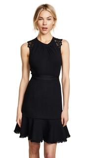 Rebecca Taylor SL Tweed & Lace Dress