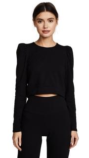 Riller & Fount Libby Puff Sleeve Cropped Sweatshirt