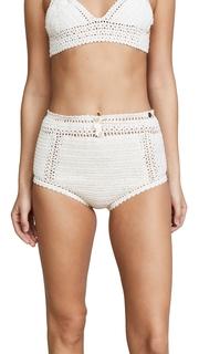 She Made Me Essential Cotton Crochet High Waist Bikini Bottoms