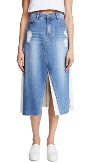 SJYP Front Long Denim Skirt