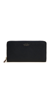 Smythson Panama Zip Around Wallet