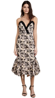 Talulah Eloquence Floral Strapless Midi Dress