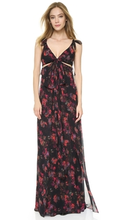 Thakoon Knotted Gown with Cutouts