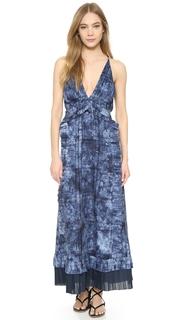 Thakoon Ruffle Front Long Dress
