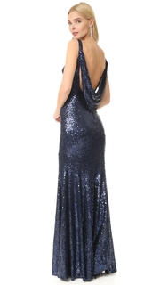 Theia Gemma Bateau Neck Gown