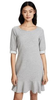 Three Dots Flounce Sweatshirt Dress