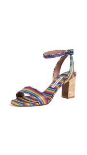 Tabitha Simmons Rainbow Sandal Pumps