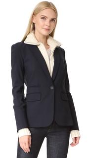 Veronica Beard Classic Wool Jacket with Upstate Dickey