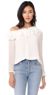 WAYF Karyna One Shoulder Top