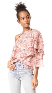 WAYF Colton Tiered One Shoulder Top