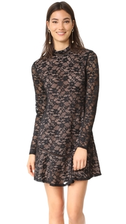 WAYF Julie Mock Neck Lace Dress