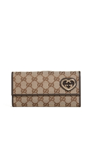 What Goes Around Comes Around Gucci Guccissima Canvas Wallet (Previously Owned)